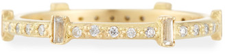 Armenta Old World Sueno Six-Sapphire Baguette Ring with Diamonds