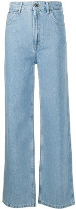 Sandro High-Waist Straight Jeans