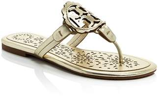 Tory Burch Women's Miller Scallop Leather Thong Sandals