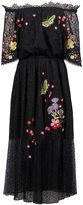 Temperley London Black Lace Leo Off Shoulder Dress