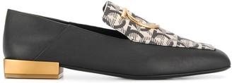 Salvatore Ferragamo Gancini mirrored-heel loafers
