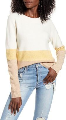 Vero Moda Doffy Colorblock Oversize Crewneck Sweater