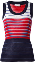 Sonia Rykiel rib stripe tank top - women - Silk/Cotton - S