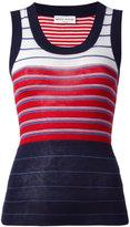 Sonia Rykiel rib stripe tank top - women - Silk/Cotton - XS