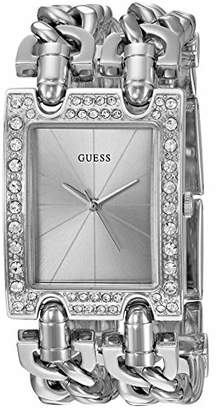 GUESS Crystal Multi-Chain Bracelet Watch with Self-Adjustable Links. Color: (Model: U1121L1)