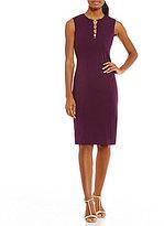 Calvin Klein Hardware-Detail Ponte Sheath Dress
