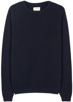Oliver Spencer Navy Ribbed Cotton Jumper
