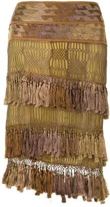 Gucci Pre-Owned Tassel Net Skirt