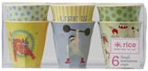 Rice Set of 6 Boys Circus Cups