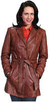 Scully Women's Classic Style Knee Length Coat L51 - Antique Brown Western Clothing