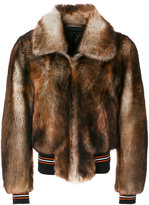 Christian Dior stripe detail bomber jacket