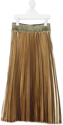 John Richmond Junior Pleated Metallic Knit Skirt