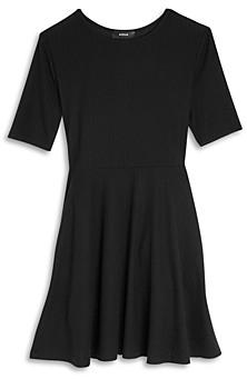 Aqua Girls' Rib Knit Fit and Flare Dress - Big Kid