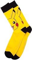 Pokemon Official Men's Pikachu Character Crew Style Novelty Socks - Sized