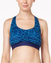 Gaiam Printed Low-Mid-Impact T-Back Sports Bra