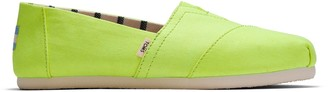 Toms Neon Yellow Canvas Women's Classics Venice Collection