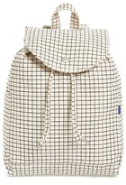 Baggu Drawstring Canvas Backpack - White