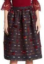 Oscar de la Renta Knit-Detail Skirt