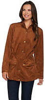 As Is Linea by Louis Dell'Olio Faux Suede Anorak