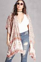 Forever 21 FOREVER 21+ Angie Draped Floral Cardigan