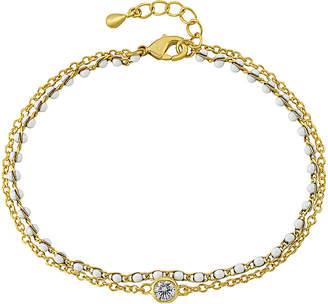 Little Miss Twin Stars Strings Of Beads 14K Enamel Bracelet