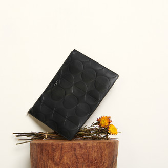 Sandro Embossed leather pouch