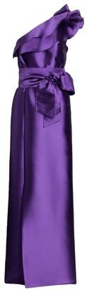 Alberta Ferretti Mikado Asymmetrical Gown