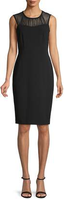 Calvin Klein Collection Illusion Sheath Dress