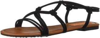 Rocket Dog Women's Hartzel Coasting Fabric Sandal Black 8.5 Medium US