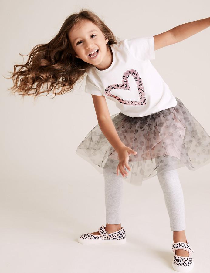 Marks and Spencer Glitter Leopard Tutu Skirt (2-7 Yrs)