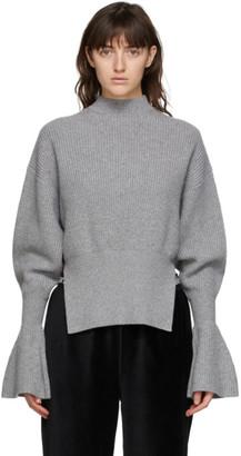 Alexander Wang Grey Engineered Rib Sweater