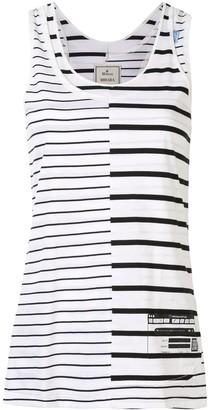 Maison Mihara Yasuhiro Asymmetric Striped Vest