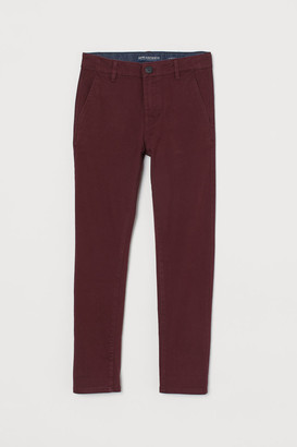 H&M Skinny Fit Chinos - Red