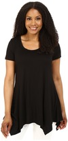 Christin Michaels Plus Size Joselyn Short Sleeve Top