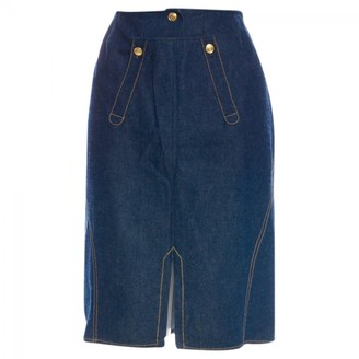 Christian Dior Blue Denim - Jeans Skirt for Women Vintage