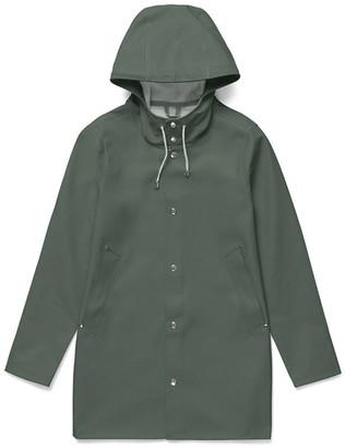 Stutterheim Green Stockholm Unisex Raincoat - XXXS - Green