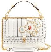 Fendi Kan I floral-appliqué leather shoulder bag