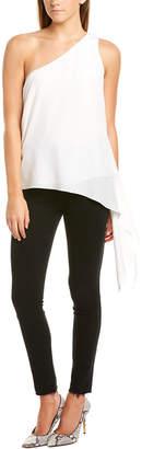 BCBGMAXAZRIA One-Shoulder Silk Blouse