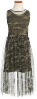 Bebe Girl's Tulle Overlay Tank Dress