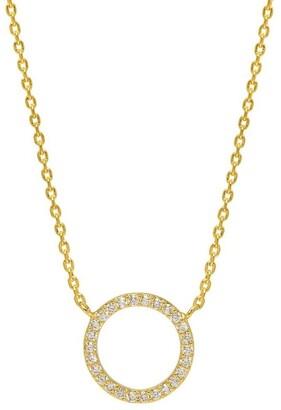 Estella Bartlett Large Pave Set CZ Circle Necklace