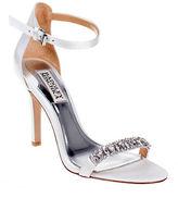 Badgley Mischka Elope Embellished Satin Sandals