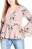 City Chic Rose Play Top