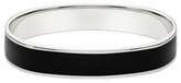 Sterling Silver Bangle Bracelet w/ Black Enamel