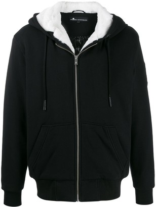 Moose Knuckles Bad Ass Bunny sherpa lined hoodie
