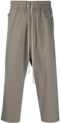Rick Owens Dropped-Crotch Cropped Trousers