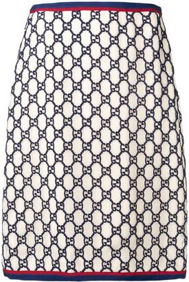 Gucci GG Supreme jacquard skirt
