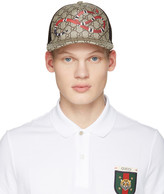 Gucci Beige Logo and Snake Cap