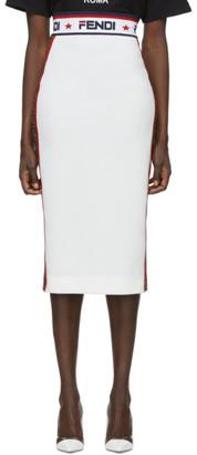 Fendi White Mania Pencil Skirt