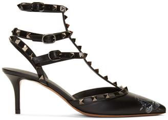 Valentino Black Garavani Undercover Edition Rockstud Caged Heels