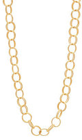 Betsey Johnson Textured Double Link Chain Long Necklace